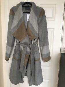 BNWT Bargain Grace Evans Grey Womens Pocket Dressem 3//4 flate sleeves