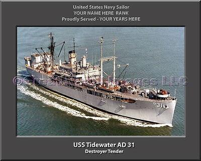 USS TIDEWATER AD 31 Street Sign us navy ship veteran sailor gift