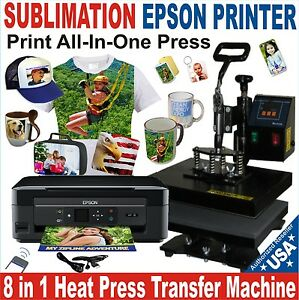 8 in 1 heat press transfer sublimation combo complete pack plus