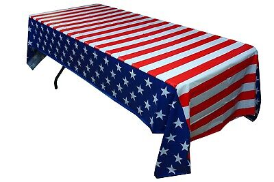 """4TH OF JULY Party Supplies...Patriotic Tablecloth//Disposable 54/"""" x 108/"""""""