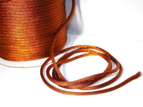marrón 5 metros de #fm04 cuerda cuerda 3mm cordel cuerda Satin cordel