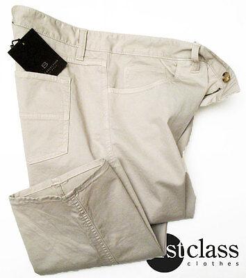 100% Vero Boss Selection 5 Tasche Pantaloni Speader-d In 54 38/34 Beige Chiaro Di Cotone