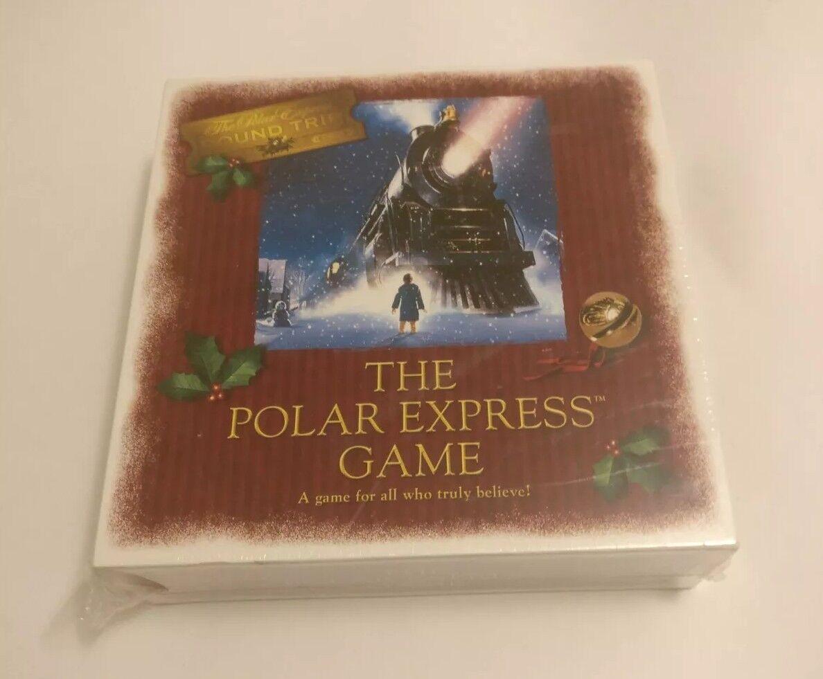 THE POLAR EXPRESS ROUND TRIP CHRISTMAS MOVIE BOARD GAME, NEW SEALED WARNER BROS