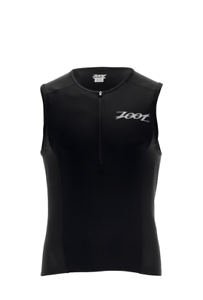 ZOOT Active Tri Mesh Tank Top Laufshirt Triathlon Gr. S black NEU