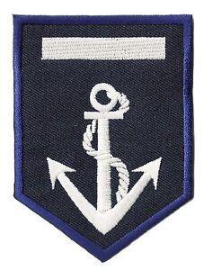 Marine insigne brodé fer sur Motif Appliqué Bleu /& Blanc-Chaque M....