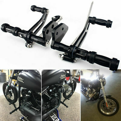 Aluminum Forward Controls Foot Pegs For 2000-2017 Harley DYNA Street Bob Super Glide Lower Rider Black