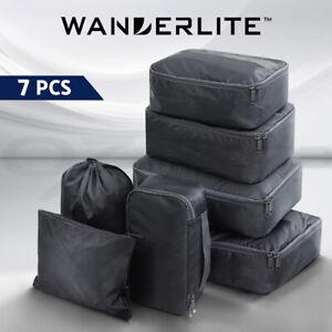Wanderlite Luggage Organiser 7PCS Suitcase Packing Cubes Travel Storage Bag