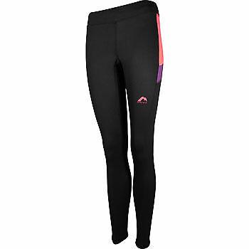 More Mile Plus-Tech pour femme Long Running Collants-Noir