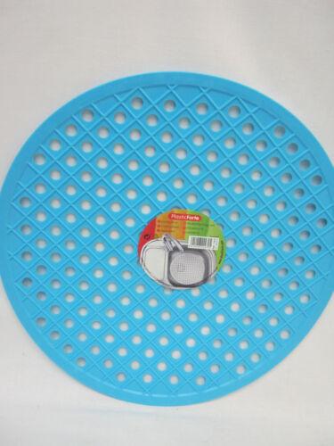 New Albero PlasticForte Round Rubber Sink Mat 32cm 11875 Aqua Blue