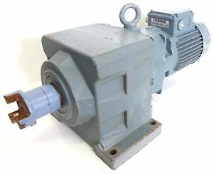 BAUER BG40Z Getriebemotor Stirnradgetrie<wbr/>bemotor Gear 1,8U/min 0,06kW 179Nm 3~ B3