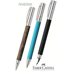 Faber-Castell-Ambition-stylos-plumes-in-5-FINITIONS-amp-3-Pointe-tailles-avec