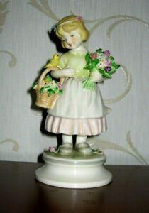 Goebel - BIRD SONG LORE Figurine - Flower Children Series - 1970 - Mint
