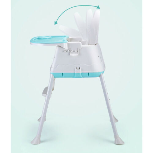 3 in1 Baby Highchair Toddler Infant Kids Feeding Tray Adjustable High Chair Blue