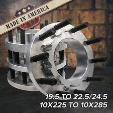 Usa 10 Lug 10x225 To 10x285 195 To 225245 Semi Wheel Adapters Ford Dodge