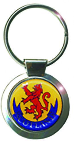 Lion Rampant Paracord Keyring Scotland Scottish Souvenir Gift Cord Metal Crest