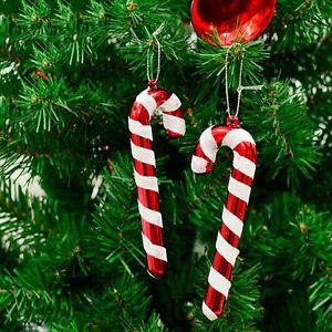 12X-Weihnachten-Zuckerstange-Ornamente-Party-Weihnachtsbaum-Haengen-Dekor-FY