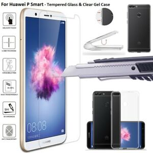 comprare popolare 4be8b 47510 Details about Slim Soft Silicone TPU Clear Case Cover Screen Protector For  Huawei P Smart 2018