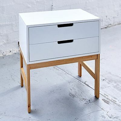 NEW Bailey Side Table Two Drawer Load limit: 30kgs.