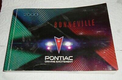 00 2000 Pontiac Bonneville owners manual