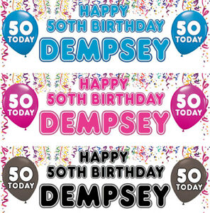 2-Personalised-Birthday-banner-Balloon-Adult-Children-Party-Poster-Decoration