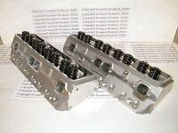 Sbc Aluminum Cylinder Heads 220cc Hyd Roller Angle Plug Racing Aluminum Heads