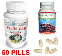 Women Weight Gain Pills - Skinny Weight Gain 60 Pills - Herbal Sup Coral Calcium