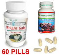 Women Weight Gain Pills - Skinny Weight Gain 60 Pills - Herbal Sup Coral Calcium