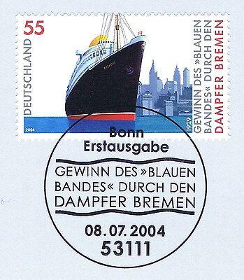 Aus Dem Ausland Importiert Brd 2004: Gewinn Des Blauen Bandes Nr. 2412 Mit Bonner Ersttagsstempel! 1a! 1511