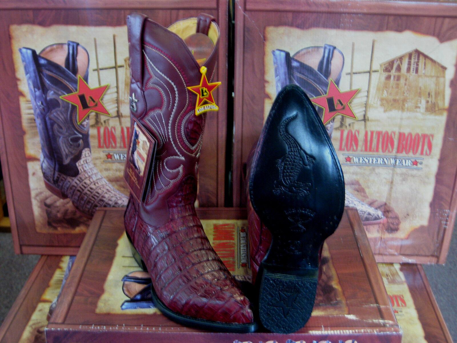 Los altos Mujeres Borgoña Original Bota de vaquero vaquero vaquero occidental de cola de cocodrilo (M) L091061  calidad fantástica