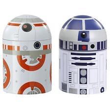 STAR WARS R2-D2 & BB-8 DROID TIN STORAGE SET OF 2 BRAND NEW UK SELLER