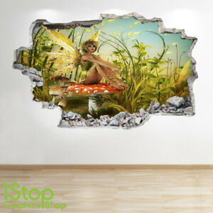 ENCHANTED FORREST WALL STICKER 3D LOOK BOYS KIDS BEDROOM FAIRY WALL DECAL Z237
