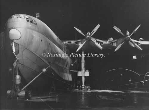PHOTOGRAPH FB 19  NIGHT TIME SLIPWAY VIEW PRINCESS FLYING BOAT