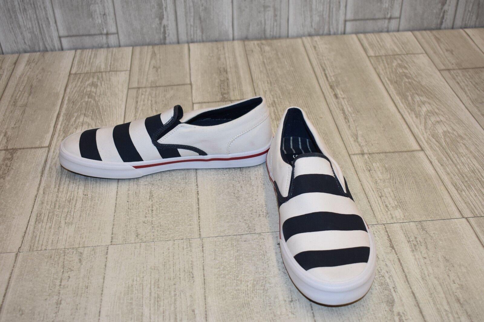 Sperry Striper II Twin Gore Sneaker - Men's Size 8M - White Navy Red