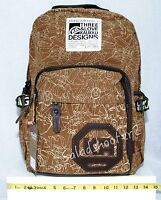 Kaukko Fp77 Khaki Canvas School College Computer Backpack Rucksack Daypack