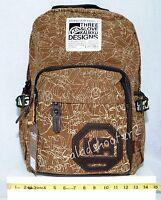 Kaukko Fp77 Khaki Canvas School College Computer Backpack Rucksack Daypack