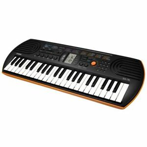 Casio Digital Orange Percussion Keyboard 44 Electric Piano Music Mini Keys  Small