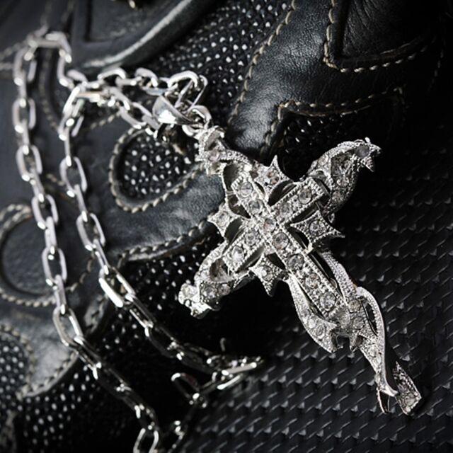 Guntwo Pendant Cross Necklaces Hip Hop Biker Tattoos Necklace