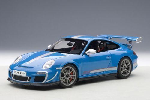 1  18 bilAR PORSCHE 911 (997) GT3 RS 4.0 (blå) 2011
