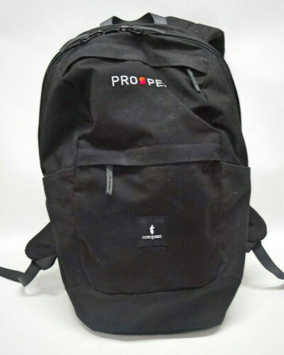 "COTOPAXI ""PROSPER"" BLACK CANVAS BACKPACK/LAPTOP BA"