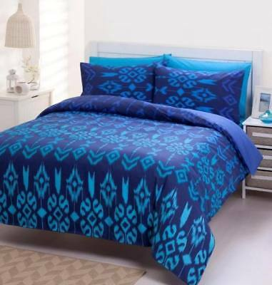 225TC Percale Tahiti Blue Queen Size Quilt Doona Cover Set