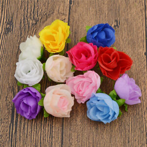 50x decorative fake roses artificial silk flower heads wholesale image is loading 50x decorative fake roses artificial silk flower heads mightylinksfo