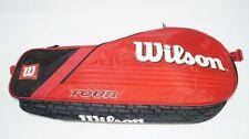 *NEU*Wilson Tour 3 Pack red Tennistasche 3er classic pro rot schwarz holder new