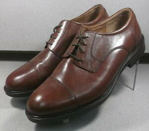 201863 PF50 Men's Shoes Size 10 M Brown Leather Lace Up Johnston & Murphy