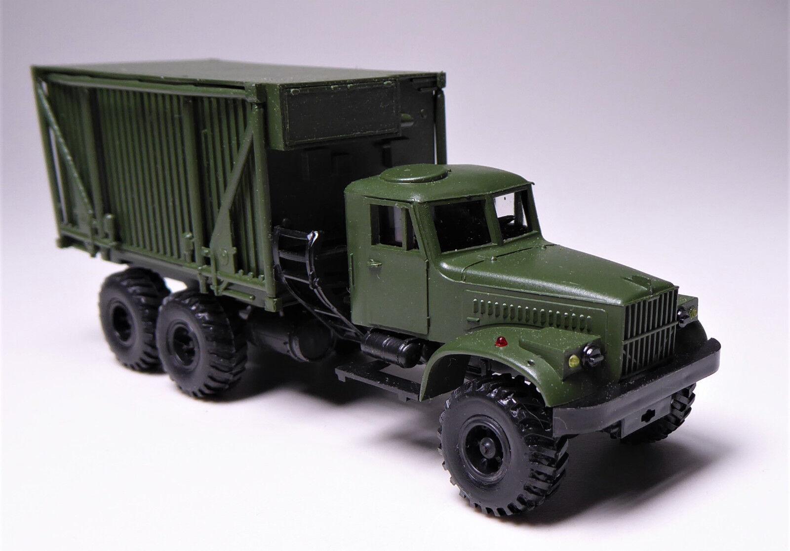 H0 Kraz 255 B comando Veicolo bacchetta carrello faltkoffer FK 1 militare URSS rarità.