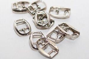 Stati Uniti sporchi online ottimi prezzi selezione straordinaria 10 x Piccola Fibbia Cintura Fibbia Chiudere Argento per 10 mm ...
