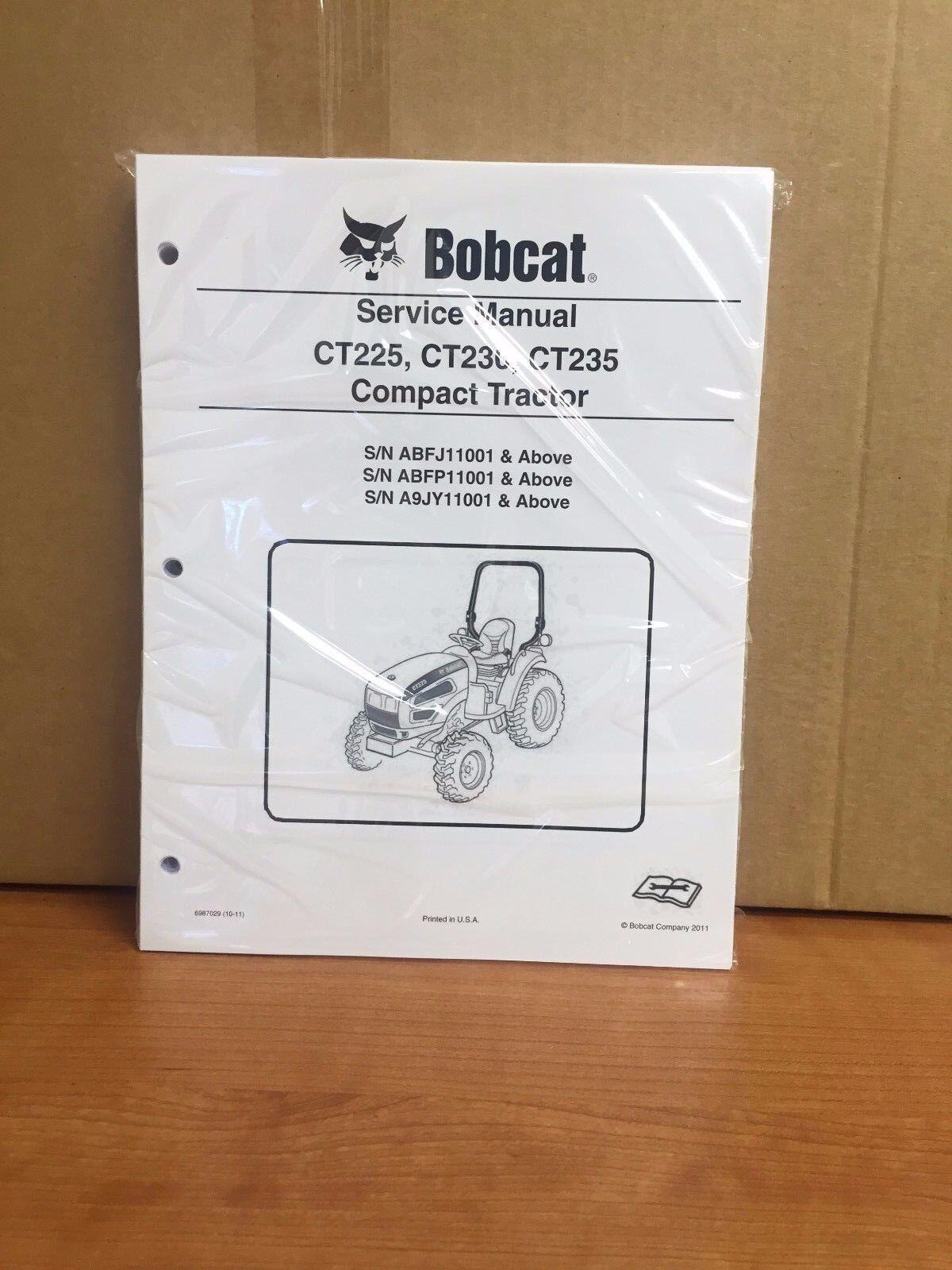 Bobcat Ct225 Ct230 Ct235 Compact Tractor Service Manual Shop Repair on bobcat ripper attachment, bobcat ct120, bobcat ct225, bobcat toolcat 5610, bobcat ct445, bobcat ct230, bobcat ct335, bobcat ct450,