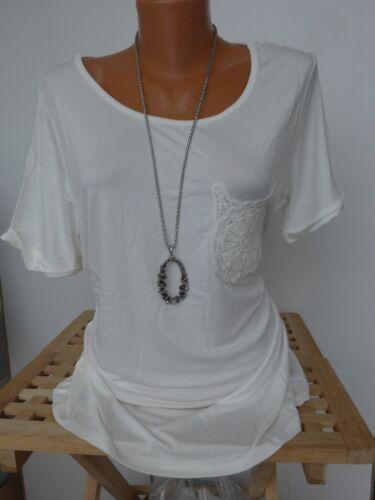 838 34-46 Kurzarm schöne Brusttaschen Stickerei NEU Heine Shirt Bluse Gr