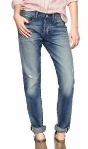 0 Nwot Spring R Blue Fit difficoltà in Gap Selvedge Original Fidanzato Jeans 25 90 8Ar8nTS