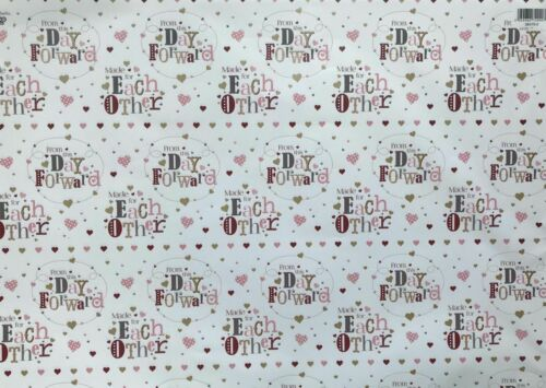 Engagement  Wedding  Anniversary Gift Wrap Paper £1.85 For 2 Sheets And 1 Tag