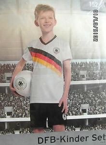 Fussball-Kinder-Trikot-SET-Deutschland-DFB-mit-Hose-Gr-176-Neu-OVP